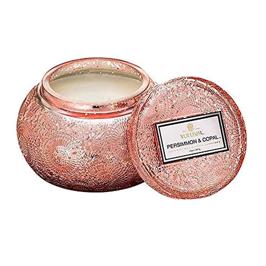 ぐったり責める豪華なVOLUSPA チャワングラスキャンドル Persimmon & Copal パーシモン&コーパル GLASS CANDLE ボルスパ