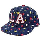 ハッピーハット キッズ 帽子 キャップ 輝きラメMIX星柄 アンダーバイザー ネイビー kids-254-03
