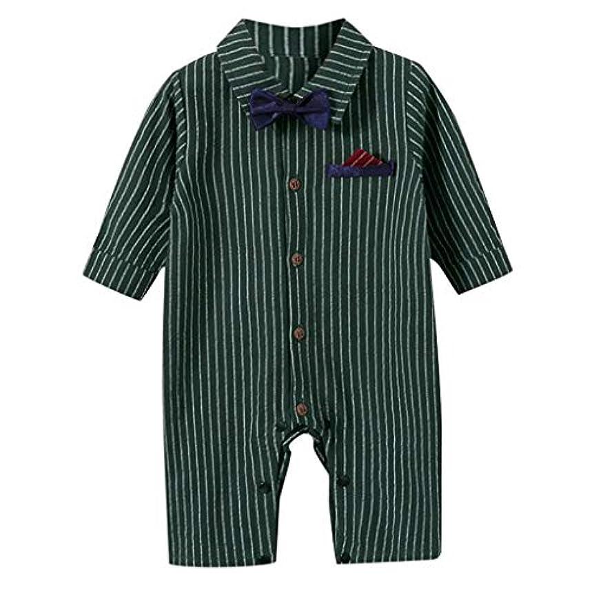 彫刻家ベッドを作るローマ人新生児幼児男の子ストライプ紳士ロンパースジャンプスーツ衣装コスチューム秋冬 新生児