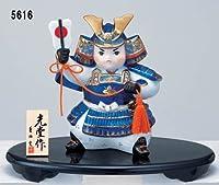 置物 男の子 初節句 金太郎 端午の節句を飾る 陶製の五月人形 染錦 出世大将
