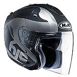 HJC(エイチジェイシー)バイクヘルメット ジェット ブラック(MC5F) M(57-58) FG-JET アカディア HJH088