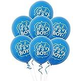 Toyvian 50ピース12インチラテックス男の子女の子風船用ベビーシャワーパーティー性別明らかにパーティー用品(ブルー)
