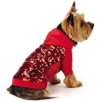 East Side Collection Love Me Sequin Pullover, Large, Red by East Side Collection