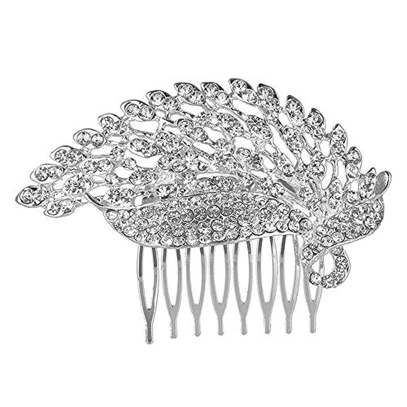 霊砂利修士号髪の櫛の櫛の櫛の花嫁の櫛の櫛の櫛の花嫁の頭飾りの結婚式のアクセサリー合金