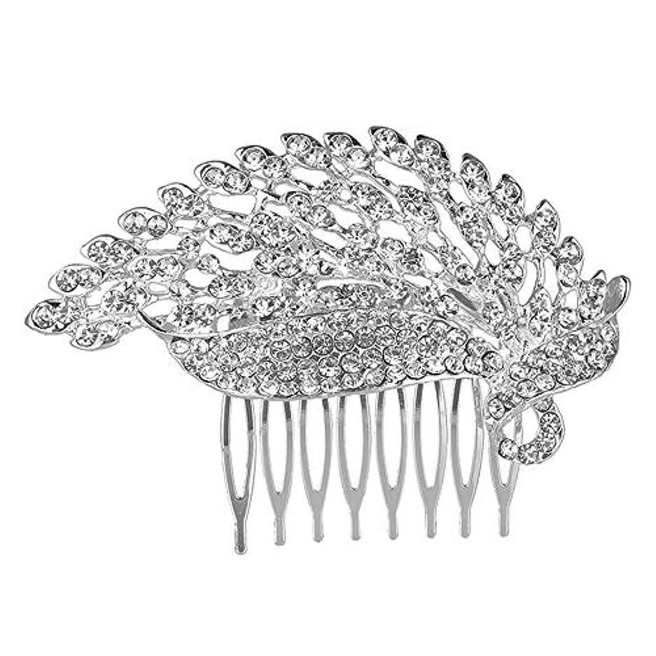 電信不透明なコンテンツ髪の櫛の櫛の櫛の花嫁の櫛の櫛の櫛の花嫁の頭飾りの結婚式のアクセサリー合金