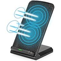 qi充電器 急速iPhone XS iPhone XS MAX Phone XR iphone8 Qi充電スタンド Qiワイヤレス充電器 ワイヤレスチャージャー iphoneX Sony Xperia/Galaxy S8/ S7/ S7Edge+ / Nexus 4/5/ 6/7 /富士通などのQi対応 USBケーブル付き