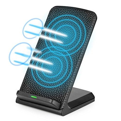 qi充電器 急速 iphone8 Qi充電スタンド Qiワイヤレス充電器 ワイヤレスチャージャー iphoneX Sony Xperia /Galaxy S8/ S7/ S7Edge+ / Nexus 4 / 5/ 6 /7 /富士通などのQi対応 USBケーブル付き