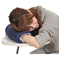 [TrendSurf] らくらく快適腕まくら Rakula うたた寝 昼寝 多機能クッション オフィス枕 (ネイビー, 1個)