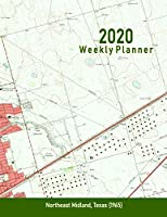 2020 Weekly Planner: Northeast Midland, Texas (1965): Vintage Topo Map Cover