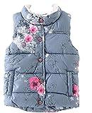 ナナコレクション Nana_Collection 秋 キッズ 子供 おしゃれ 花柄 きれいめ ボア ポケット 中綿 ダウン ベスト グレー 100cm