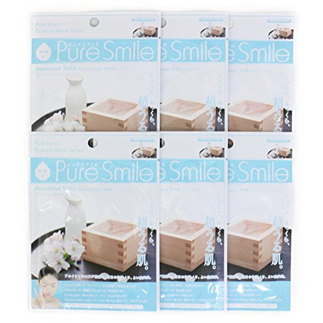 情熱的永遠に対角線Pure Smile ピュアスマイル エッセンスマスク 日本酒 6枚セット