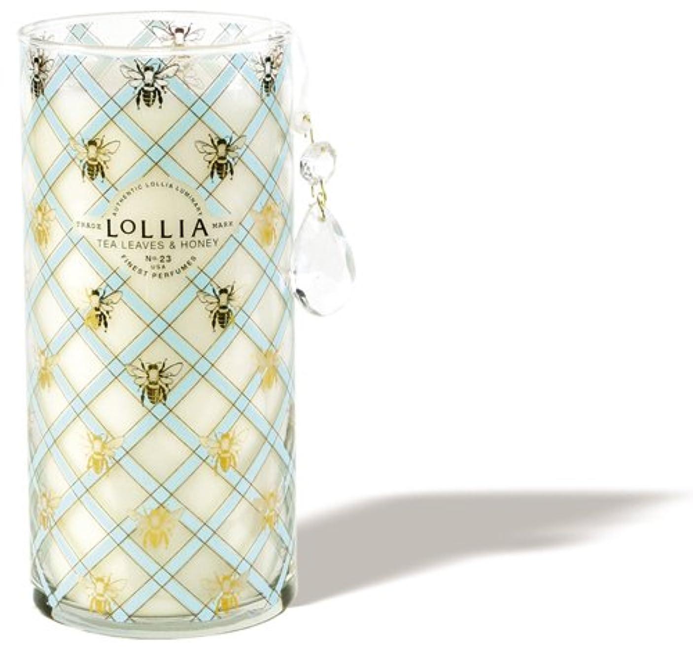 登山家粘性の彼らロリア(LoLLIA) トールパフュームドルミナリー790g Wish(チャーム付キャンドル ティーリーフ&ハニーの香り)