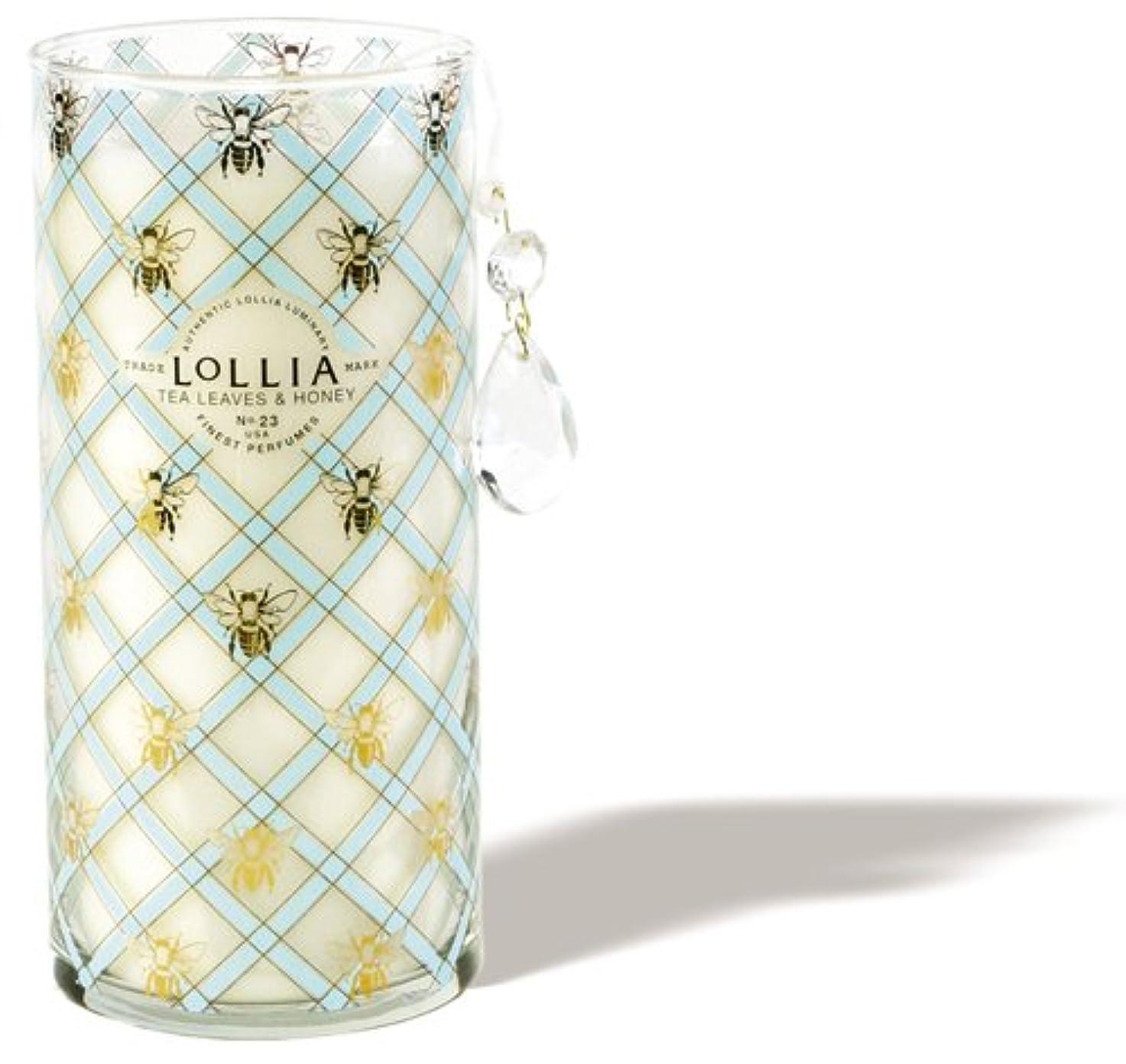 累積些細な美人ロリア(LoLLIA) トールパフュームドルミナリー790g Wish(チャーム付キャンドル ティーリーフ&ハニーの香り)