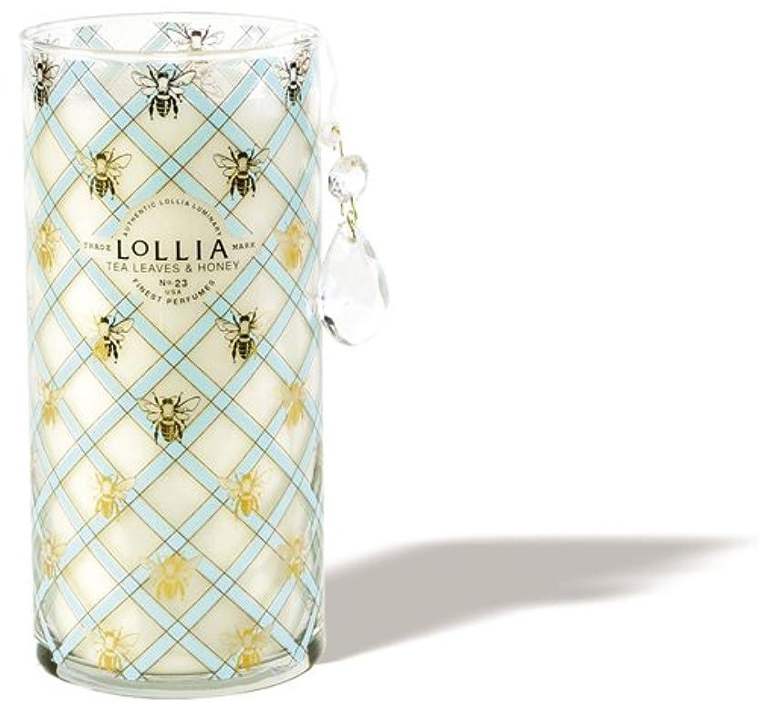忠実な発動機不測の事態ロリア(LoLLIA) トールパフュームドルミナリー790g Wish(チャーム付キャンドル ティーリーフ&ハニーの香り)