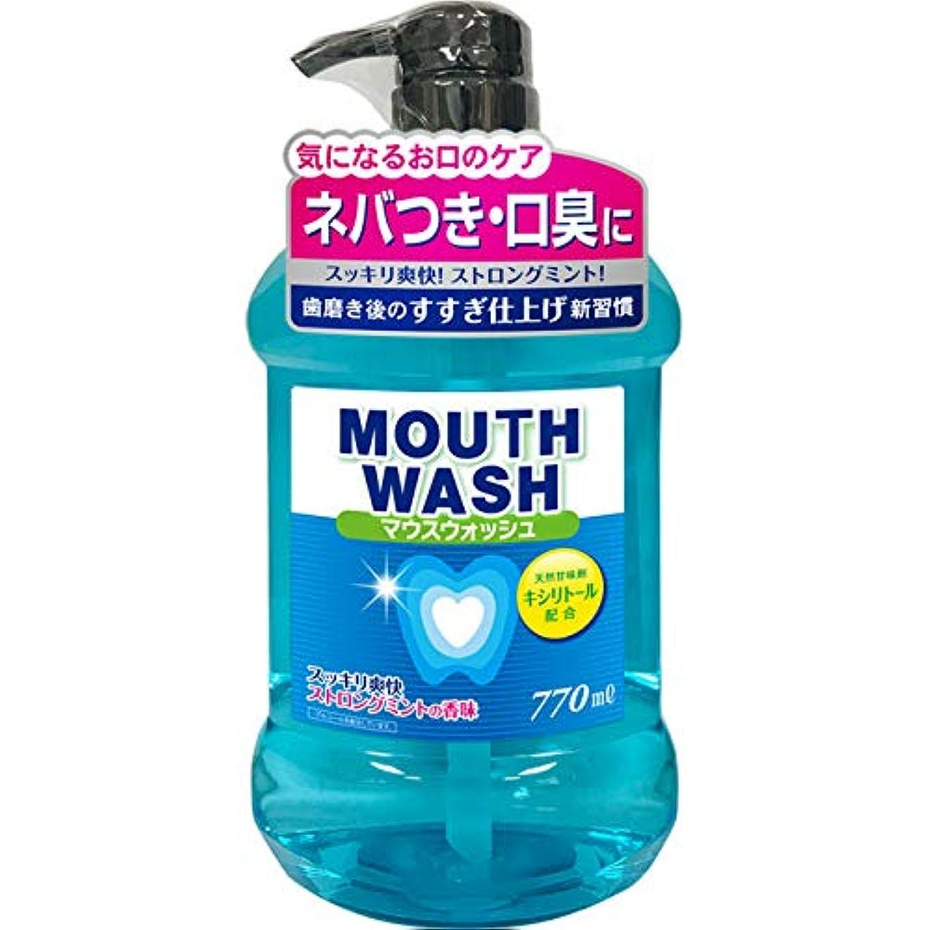 発表するリード振り子オールデントマウスウォッシュ ストロングミントの香味 770ml