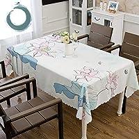 防水 四角形 長方形 テーブルクロス, ほこり-証明 ファブリック テーブルカバー 食品 プロテクター 卓上 装飾 家計 テーブルリネン-b 140x220cm
