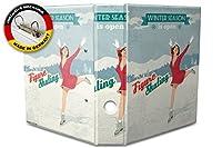 バインダー 2 Ring Binder Lever Arch Folder A4 printed Seasonal ice skates