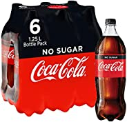 Coca-Cola No Sugar Soft Drink Multipack Bottles 6 x 1.25L