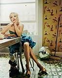 ブロマイド写真★シンディ・ローパー Cyndi Lauper/椅子に座って頬杖