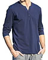 パイオニア キャンプ(Pioneer Camp) メンズ Vネック 長袖Tシャツ ロングシャツ ヘンリーネック カットソー 白/ブルー 522180