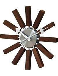 壁掛け時計 ジョージ・ネルソン インスパイアクロック ウォールナット 51890000