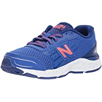 New Balance Boys' 680v5 Running Shoe, Pacific/Dynomite