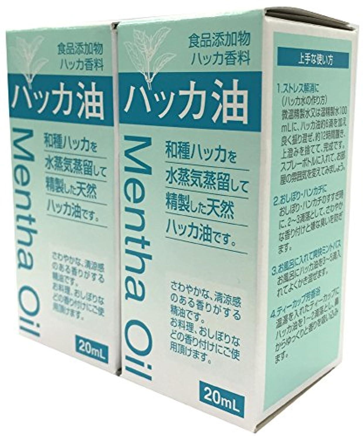 突き刺す外部拒否食品添加物 ハッカ油 20mL 2個セット