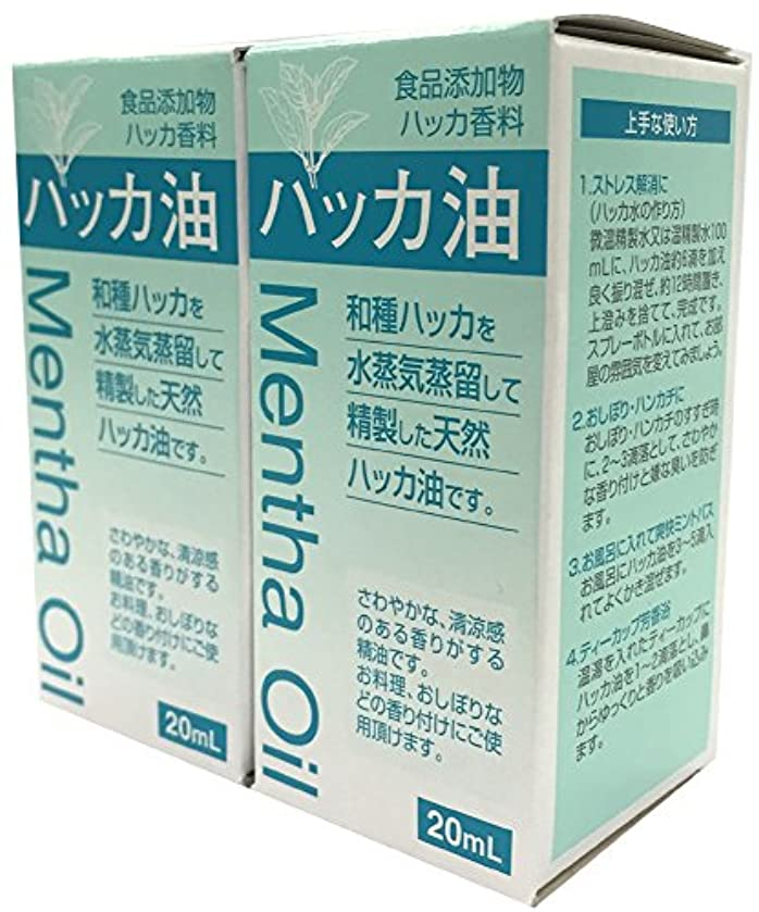 酒消費壁紙食品添加物 ハッカ油 20mL 2個セット