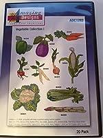 Amazingデザイン刺繍ソリューション( ADC 1282) Vegetableコレクション1、CD - ROM