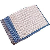 HOMYL 12pcs Classic Mens Striped HANDKERCHIEFS 100% Pure Cotton Pocket Square Hanky