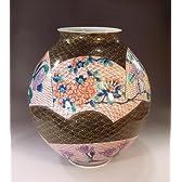 有田焼・伊万里焼|花瓶陶器・花器・壺|贈答品|高級ギフト|記念品|贈り物|青海波扇花・藤井錦彩