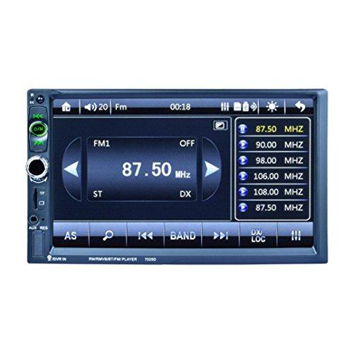 boyiyaマルチメディアプレーヤーホスト、ダブル2DIN車7mp3mp5プレーヤーステレオFMラジオSAT NAV Bluetooth USB AUX