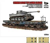 ティーモデル 1/35 ドイツ軍 重平貨車 80t Ssyms タイプ w/木製デッキシート プラモデル TMOTK3501-1