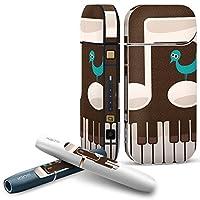 IQOS 2.4 plus 専用スキンシール COMPLETE アイコス 全面セット サイド ボタン デコ フラワー 音符 ピアノ 鳥 005893