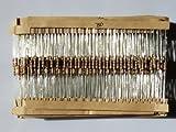 【PLOVER】 カーボン抵抗 炭素皮膜抵抗 1/4W(0.25W) 許容差±5% オリジナルセット 1Ω~1MΩ 37種類 各20個(合計740個) ユニバーサル基板付き PR-203