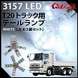 T20 5アーム スパイダー トラック用 LED テールランプ 白 24V 左右2個セット