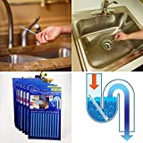 12 PCS/Bag Sani Cleaing Sticks Keep Your Drains Pipes Clear And Odor Home Cleaning Sewer Drain Cleaner Drain Clog Remover : Purple lavender