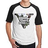 メンズ GTA グランドセフトオート Tシャツ トップス コットン 簡単 Black