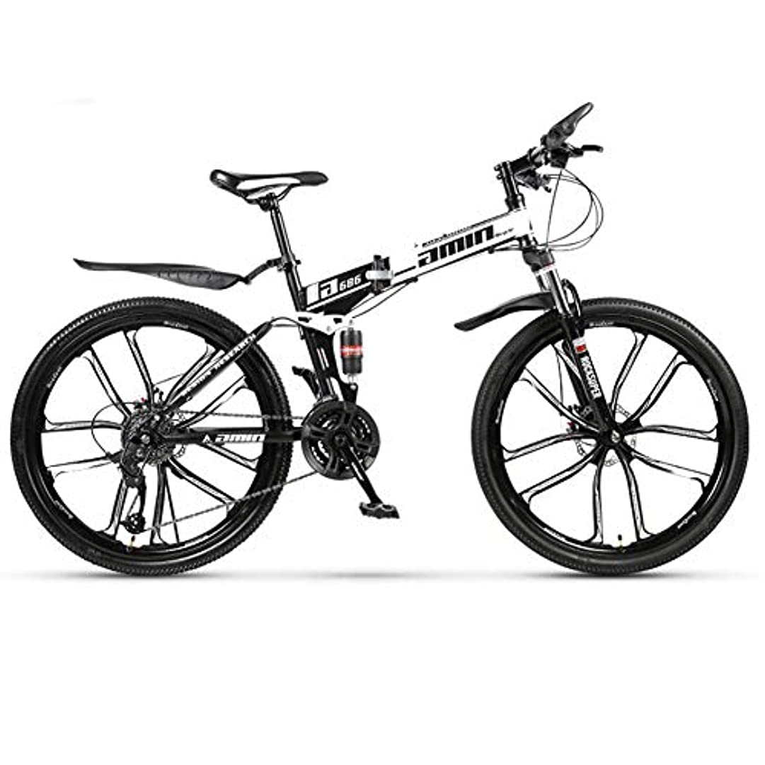 貢献する命題折りたたみ式マウンテンバイク、ダブルショックアブソーバー自転車、10カッターホイール、8秒ですばやく折りたたんで収納が簡単