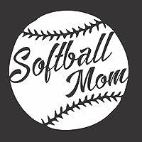 Softball Momスポーツゲーム–Die Cut Vinylウィンドウデカール/ステッカー車/トラック