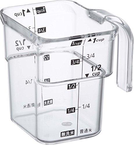 計量カップ 段々 米計量カップ レイヤー ブラック 3381
