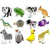 ウォーキング 動物アルミバルーン 12種類セット 誕生日 パーティー 装飾 飾り付け 子供 プレゼント イベント 風船 おもちゃ