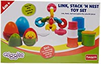 Giggles Link, Stack and Nest Toy Set
