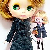 (ドーリア)Dollia ブライス 1/6ドール用 アウトフィット ダークグリーン 千鳥格子 トレンチコート アウター ネオブライス ドール 人形