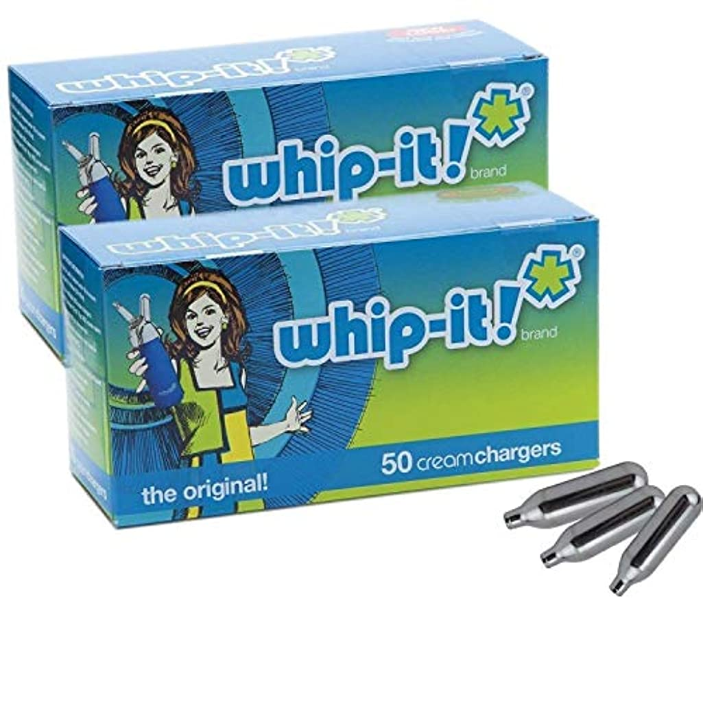土砂降り変化する文明化するWhip-it! ブランド:オリジナルホイップクリームの充電器(100 パック)