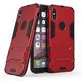 iphoneX ケース カバー ハード + ソフト(TPU) スマホケース アイフォン10 apple レッド 赤 003