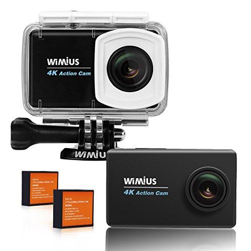 WIMIUS [アクションカム4K タッチスクリーン」スポーツ カメラ 広角 WIFI ウェアラブルカメラ ドライブレコーダー 2.45LCD 防犯カメラ ビデオカメラ4K