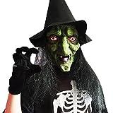 OxProw(TM) ハロウィン髪のフルフェイス魔女マスク恐怖のコスプレ衣装マスカレードマスクマスク