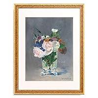 エドゥアール・マネ Edouard Manet 「Flowers in a Crystal Vase, ca. 1882.」 額装アート作品
