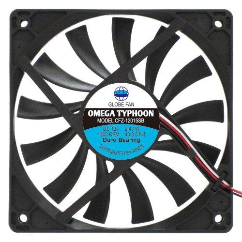 アイネックス OMEGA TYPHOON 120mm 薄型超静音タイプ CFZ-12015SB
